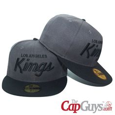 Los Angeles King Black & Grey New Era Fitted Cap   Buy it now: