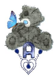 Oh my Alfabetos!: Alfabeto Me to You Bears con joya y mariposa.