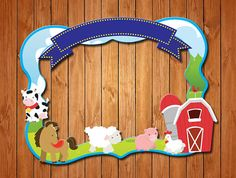 Farm themed party photo frame