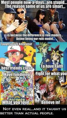 Anime taught us better than actual people