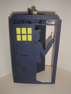 Papercut Card Doctor Who in the TaRDiS