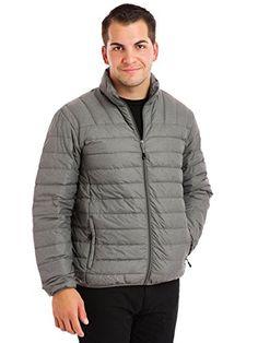 Hawke & Co MensBig & Tall Manhattanite The New Packlite Jacket, Light Grey Heather, Large-Tall
