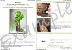 Polymer Clay and Pearls Vase Tutorial, Example Pages