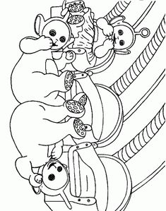 Teletubbies Coloring Pages Pictures To Color