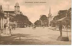 Dalhousie Street in Rangoon -1920-30-PC