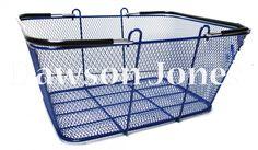 Dawson Jones Store Fixtures - Wire Mesh Shopping Basket - Blue, $12.50 (http://www.dawsonjonesstorefixtures.com/wire-mesh-shopping-basket-blue/)