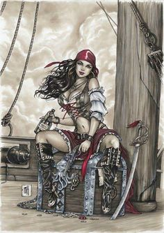 f Rogue Assassin Pirate Sword ship sea coastal Not sure how they did this , drawing ,paint Or some kind of photo ? may be if I enlarge it lol. Pirate Art, Pirate Life, Pirate Signs, Pirate Wench, Pirate Woman, Pirate Girl Tattoos, Pirate Ship Tattoos, Character Art, Character Design