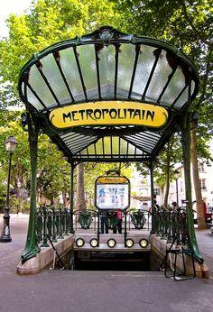 Abbesses Station. Metro Paris.