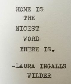 LAURA INGALLS WILDER quote home quote by PoetryBoutique on Etsy, $7.00
