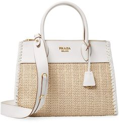 507836e74f58 Prada Women's Boxed Leather Weave Satchel Women Boxing, Leather Weaving,  Top Stitching, Calf