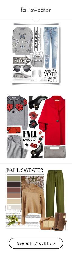 """""""fall sweater"""" by shamsiya57 ❤ liked on Polyvore featuring Dsquared2, White House Black Market, Dinh Van, Alexander McQueen, MCM, Sass & Belle, Marni, Halston Heritage, Lands' End and STELLA McCARTNEY"""
