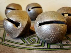 vintage brass jingle bells from an old horse sleigh – available at AtticAntics