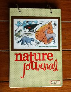 Home made nature journals: chipboard for covers and watercolor paper for the pages. Site shows several examples of children's entries. Good variety to share with kids about what kinds of things can go in nature journal. Science Lessons, Teaching Science, Science Projects, Teaching Kids, Study Journal, Nature Journal, Nature Activities, Science Nature, Cool Journals