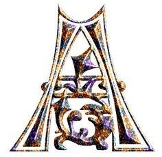Alfabeto en piedras de colores.