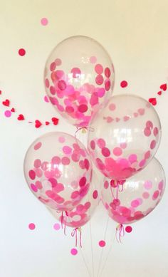 Cotton Candy Pink Confetti Balloons