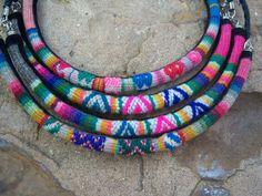 Peruvian Alpaca Wool Necklace/Peruvian Textile by SumaqOke on Etsy, $15.00