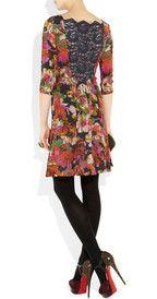 ERDEM  Fenella floral-print silk crepe de chine dress  £1,119