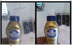 Use Bar Keepers Friend to remove hard water stains from glass shower doors!!