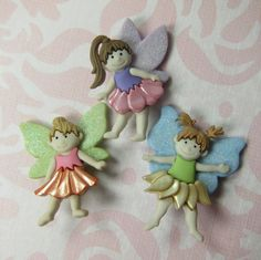 Adorable Fairy Novelty Buttons