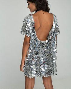 b5d731a3 Summer Sequins | Motel Rocks Trends - Motel Rocks Sequin T Shirt Dress,  Silver Sequin