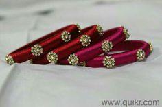 Silk thread bangle