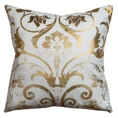 Rizzy Home Fretwork Decorative Pillow White/Gold - PILT10222IVGL2020