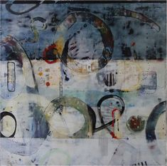 Journey, Encaustic, 36x36, 2015.  Pamela Caughey. For the process photos of how this painting evolved, please click on the image. I welcome your feedback and comments on your creative process!