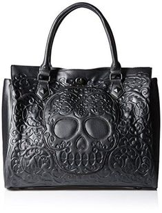 online shopping for Loungefly Lattice Skull Tote Shoulder Bag from top store. See new offer for Loungefly Lattice Skull Tote Shoulder Bag Gucci Handbags, Black Handbags, Purses And Handbags, Tote Handbags, Skull Purse, Bustier, Punk, Juicy Couture, Betsey Johnson