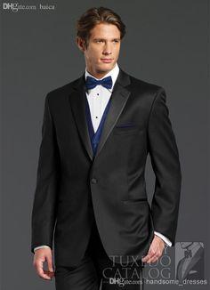 Finding best online wholesale-fashion design black peak lapel groom tuxedos groomsmen men's wedding suits best man…