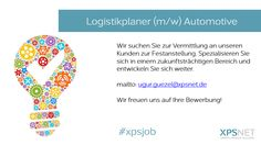 #logistik #logistikplaner #job #xpsjob #stellenangebot #festanstellung #automotive