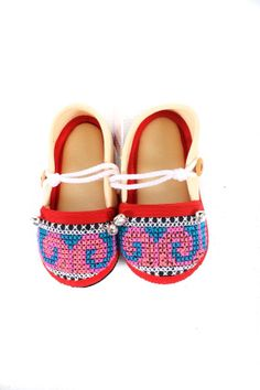 Cross Stitch Kids Shoes by hilltribeshoes