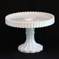 Manhattan Milk Glass Cake Stand by U. S. Glass 1902 | Collectors Weekly
