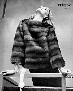 Nena von Schlebrugge in mink pull-over by Ben Kahn, 1963