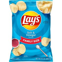 It all starts with farm-grown potatoes, cooked and seasoned to perfection. Then we add just the right balance of tangy vinegar. So every LAY'S potato chip is perfectly crispy and delicious. Happiness in Every Bite. Lays Potato Chips, Chips Brands, Dried Mangoes, Apple Chips, Natural Sugar, Afternoon Snacks, Organic Recipes, Snack Recipes