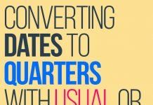 converting dates to quarters for usual or custom fiscal year using