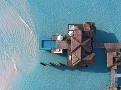 Overwater bungalows at Conrad Maldives Rangali Island, Maldives Maldives Water Villa, Maldives Beach, Visit Maldives, Maldives Resort, Resort Spa, Maldives Destinations, Maldives Luxury Resorts, Maldives Voyage, Hotel Sunset
