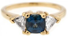 Bario Neal // Custom Three Stone Sapphire and Trillion Diamond Ring bling, diamond rings, three stone, style, diamonds, bario neal, stones, jewelri, stone sapphir