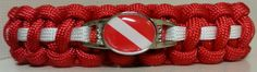 SCUBA Diver Paracord Bracelet  Free Shipping by ArmCandyDesignsTN, $15.00