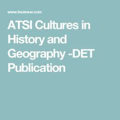 ATSI Cultures in History and Geography -DET Publication