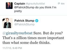 Another reason to love Patrick Stump <3