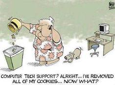 Tech Humor: Cookies (31/365) #dailyphoto #365cm #technology #edtech #funny #jokes #laughing #comics