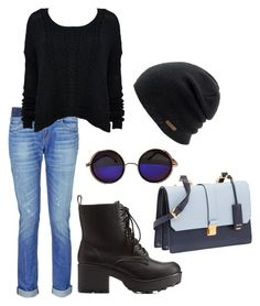 """"""":)"""" by sejla-imamovic ❤ liked on Polyvore featuring rag & bone, MARC CAIN, Charlotte Russe, Miu Miu and Coal"""