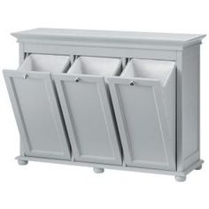 Home Decorators Collection Hampton Harbor 37 in. Triple Tilt-Out Hamper in White 2601330410 at The Home Depot - Mobile