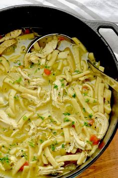 How to and Step-by-step instructions from Meal Planner Pro This is the best homemade chicken noodle soup recipe. It is made totally from scratch and so it is rich, delicious, and totally comforting Potato Bacon Soup, Creamy Potato Soup, Cooker Recipes, Soup Recipes, Chicken Recipes, Recipe Chicken, Recipies, Wonton Recipes, Savoury Recipes