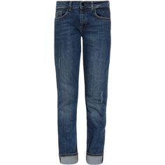 VICTORIA BECKHAM DENIM Boyfriend Cut Jeans ($388) ❤ liked on Polyvore featuring jeans, pants, bottoms, pantalones, slouch jeans, slouchy jeans, boyfriend fit jeans, relaxed fit boyfriend jeans and relaxed jeans