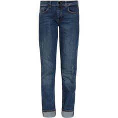 VICTORIA BECKHAM DENIM Boyfriend Cut Jeans (5.260 ARS) ❤ liked on Polyvore featuring jeans, pants, bottoms, pantalones, relaxed jeans, silk jersey, boyfriend jeans, relaxed fit boyfriend jeans and slouchy boyfriend jeans