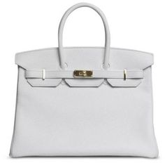Small White Clemence Birkin with Gold - Lyst