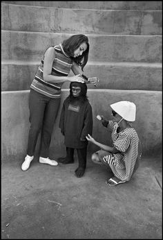 Planet of the Apes. On set.