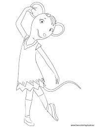 angelina ballerina training with william coloring page printable ... - Ballerina Coloring Pages Printable