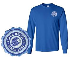 Alpha Delta Pi Patch Seal Long Sleeve T-Shirtfrom GreekGear.com